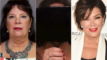 """Uwierzycie, że kobieta o takim wyglądzie może wskutek operacji plastycznej wyglądać jak Kris Jenner? To się już stało, operacja trwała 5 godzin i została zarejestrowana na potrzeby programu """"Inside Edition"""". Kobieta, o której mowa, to młodsza siostra Kris Jenner, Karen Houghton. Efekt zwala z nóg, bo wskutek operacji Houghton przestała przypominać siebie, a stała się klonem Kris."""