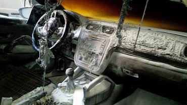 Spalone auto Adriana Markowskiego, byłego fijzoterapeuty Turowa Zgorzelec