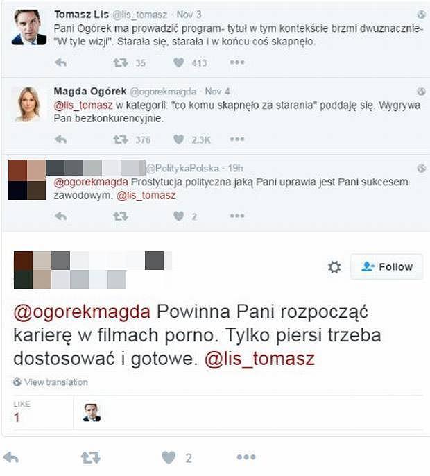 Screen z Twittera Tomasza Lisa