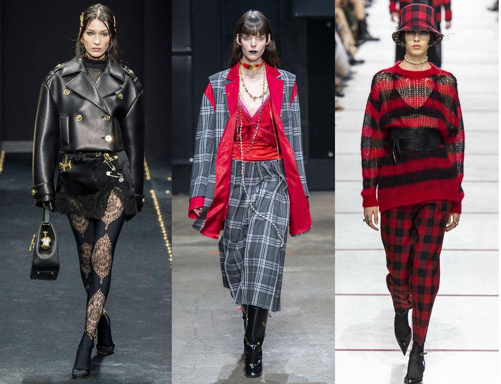 Moda w stylu punk obecna była w kolekcjach Versace, Marni i Dior