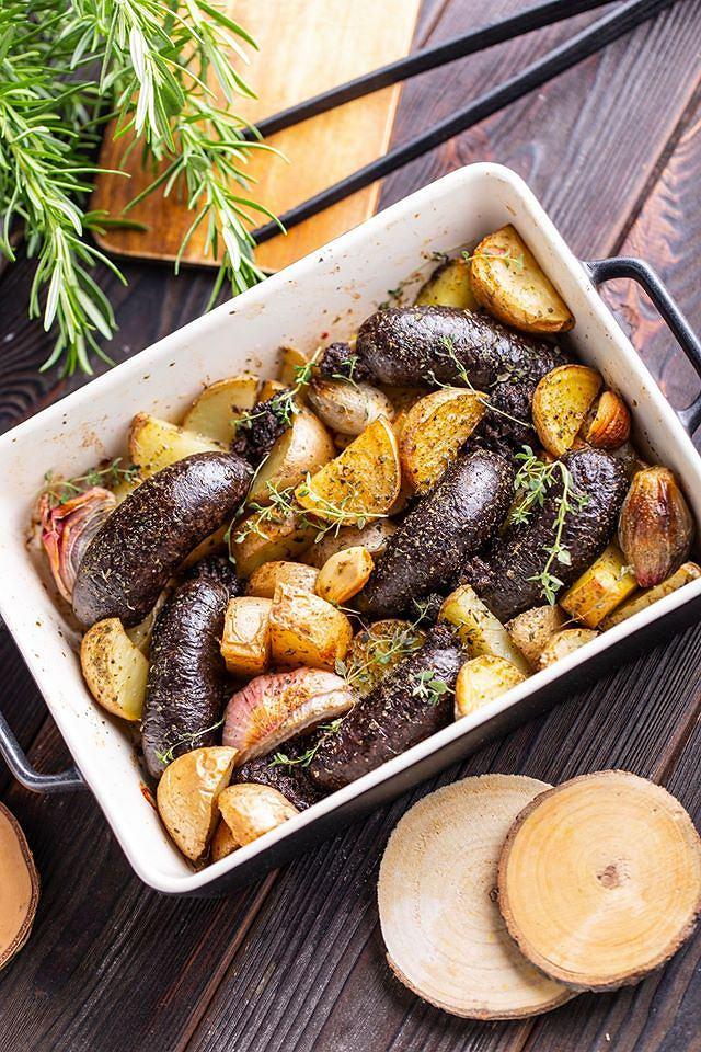 Kaszanka z ziemniakami
