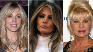 Marla Maples, Melania Trump, Ivana Trump