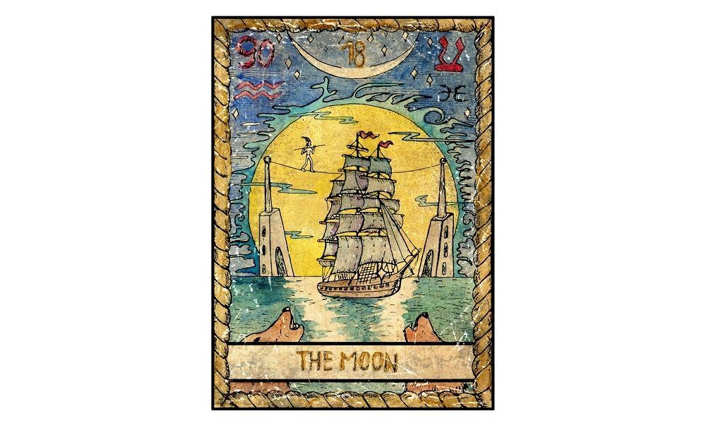 Karta tarota - 18 księżyc