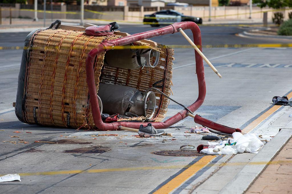5 osób zginęło w katastrofie balonu na gorące powietrze w Albuquerque w stanie Nowy Meksyk w USA