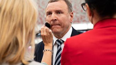 Prezes TVP Jacek Kurski podczas konferencji prasowej zapowiadającej wydarzenie ''1920. Wdzięczni bohaterom''. Warszawa, 29 lipca 2020