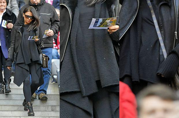 Zdjęcie numer 4 w galerii - Anna Lewandowska w ciąży na meczu Bayernu. Ubiór miał maskować kształty. Nie do końca się udało [ZDJĘCIA]
