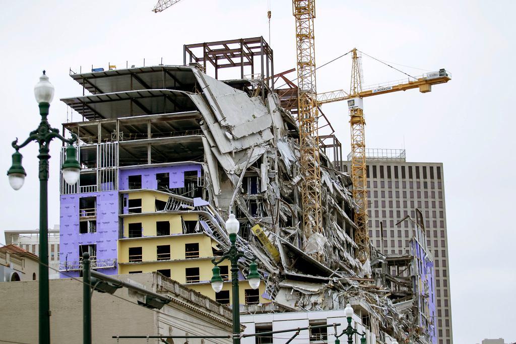 Nowy Orlean. Zawalił się fragment hotelu w budowie. Nie żyje jedna osoba, trzy uznane za zaginione