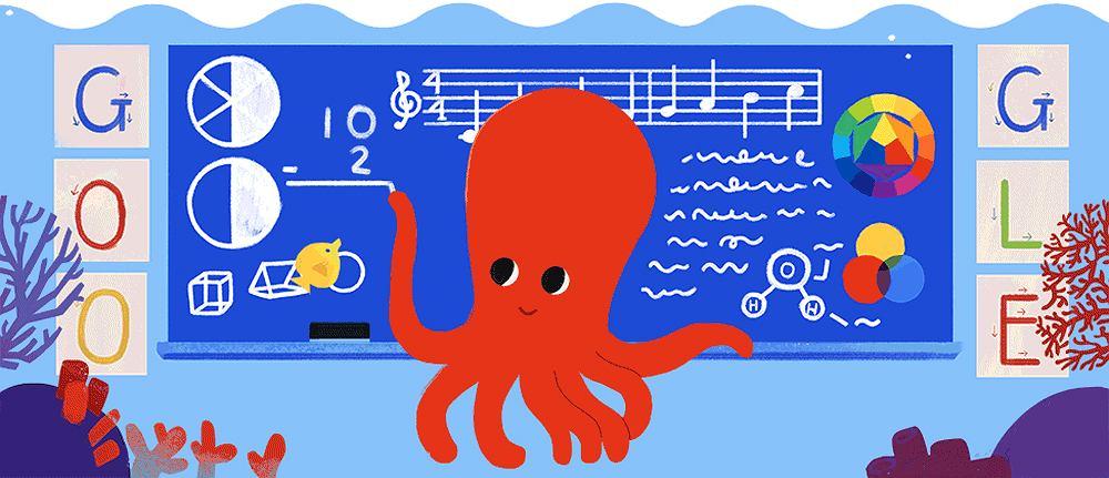 Google Doodle świętuje Dzień Edukacji Narodowej (ilustacja)