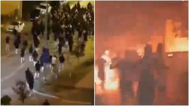 Zamieszki przed meczem Legia Warszawa - Dinamo Zagrzeb