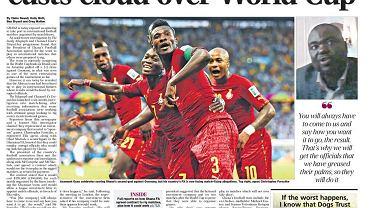 Okładka poniedziałkowego The Telegraph