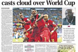 """Mundial 2014. Śledztwo """"The Telegraph"""": Ghana zamieszana w ustawianie meczów?"""