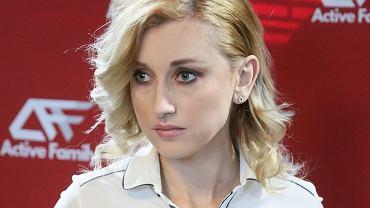 Justyna Żyła na promocji swojego programu 'Justyna Żyła. Pierzemy brudy do czysta'