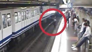 Pasażerka metra w Madrycie weszła wprost pod nadjeżdżający pociąg