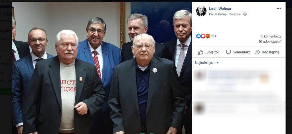 Lech Wałęsa spotkał się w Moskwie z Michaiłem Gorbaczowem.