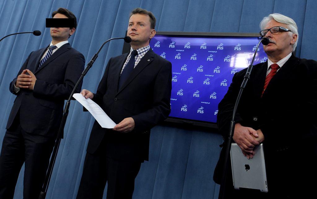Mariusz Antoni K., Mariusz Błaszczak i Witold Waszczykowski