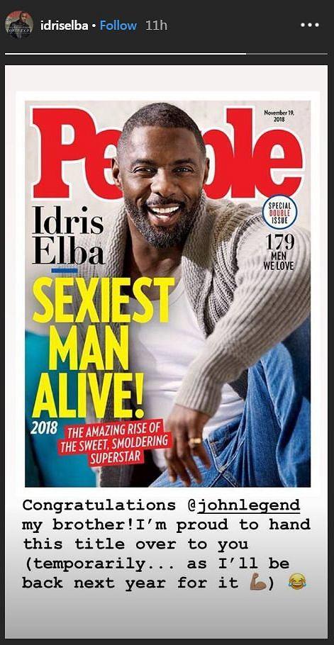 John Legend najseksowniejszy mężczyzna świata. Idris Elba komentuje i ostrzega