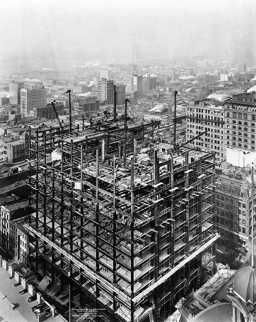 Zdjęcie z budowy Woolworth Building