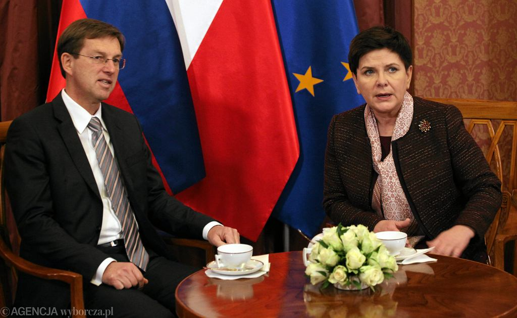 Premier Beata Szydło i premier Słowenii Miro Cerar, 24.01.2017 r.