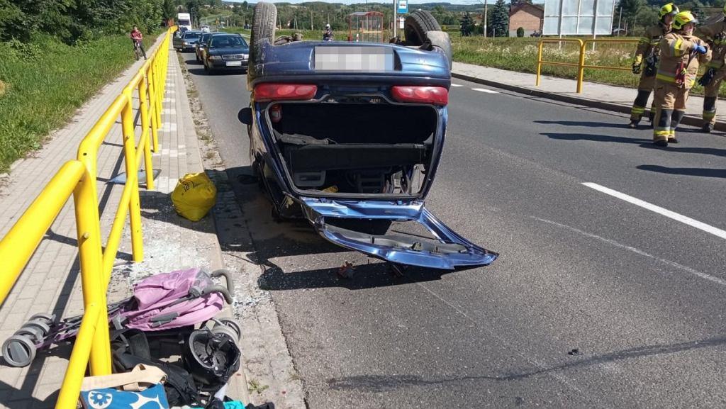 Wypadek w okolicach Biecza