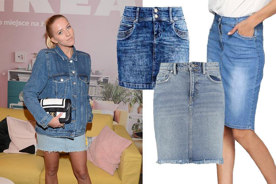 Kolaż, jeansowe spódnice/Materiały partnera