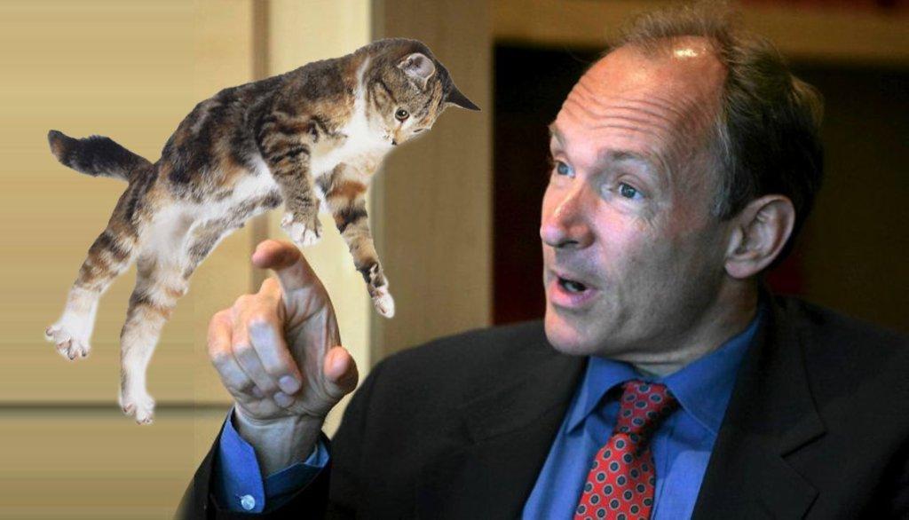 Tim Berners-Lee nie przepada za internetowymi kociakami