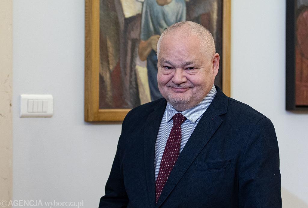 Prezes NBP Adam Glapiński podczas powołania przedstawiciela Prezydenta w Komisji Nadzoru Finansowego. Warszawa, 24 stycznia 2020