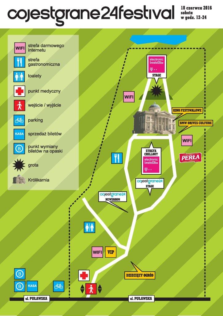 Mapa Co Jest Grane Festival 2016 / Materiały prasowe