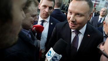 Prezydent Andrzej Duda podczas wywiadu m.in. dla TVN24 w Kuleszach Kościelnych, 27.11.2019