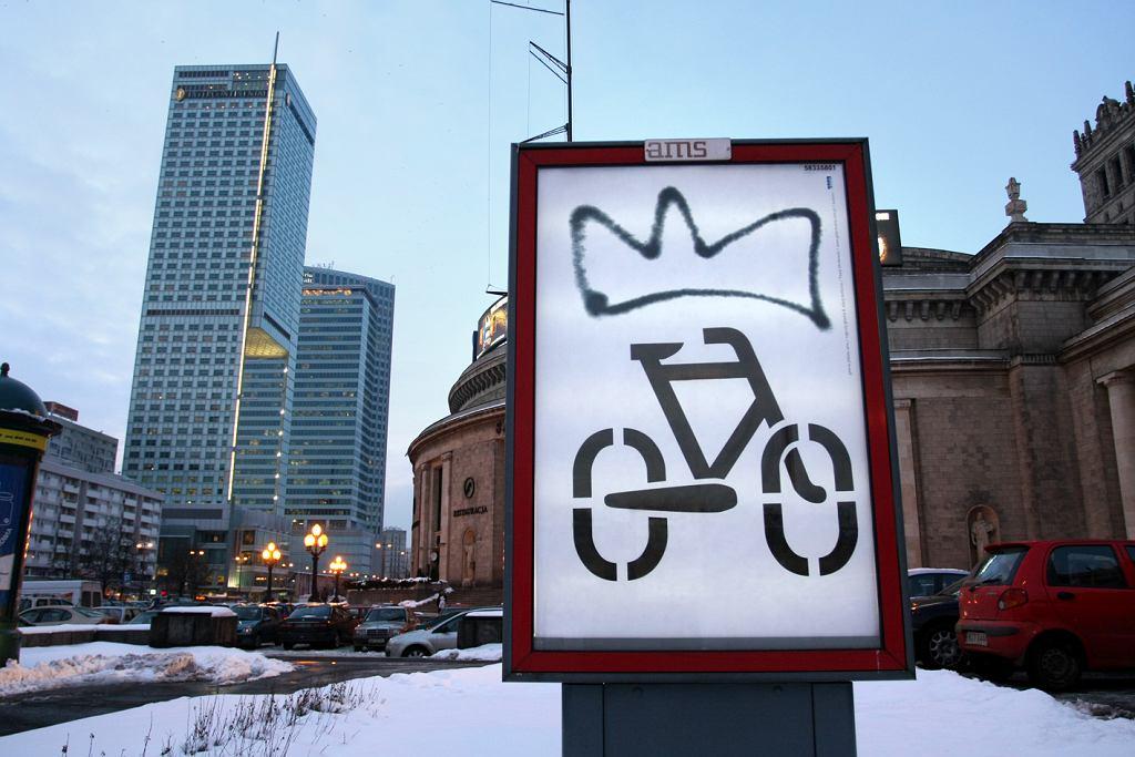 zwycięski plakat 'rowerowy' w konkursie Galerii Plakat
