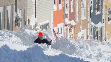 Rekordowe opady śniegu w Kanadzie
