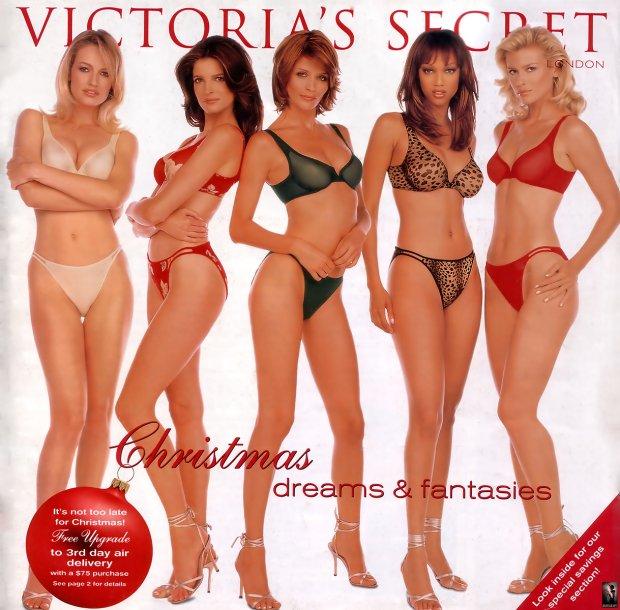 Świąteczny katalog Victoria's Secret, okładka z późnych lat 90.