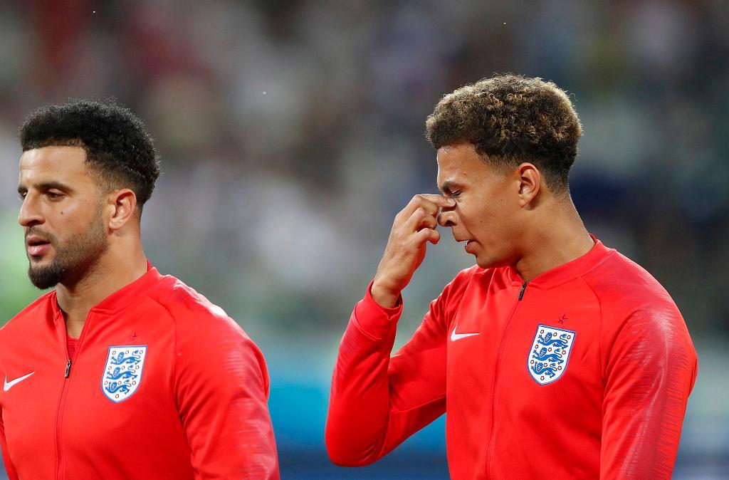 Mundial 2018. Mecz Anglia - Tunezja. Dele Alli nie mógł się opędzić od komarów