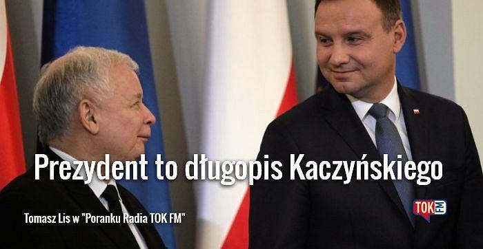 Jarosław Kaczyński i Andrzej Duda podczas uroczystego desygnowania Beaty Szydło na Prezesa Rady Ministrów