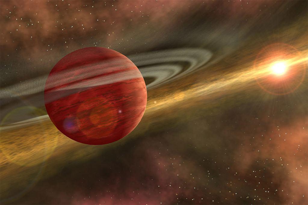 Wizja artystyczna planety 2MASS 1155-7919 b