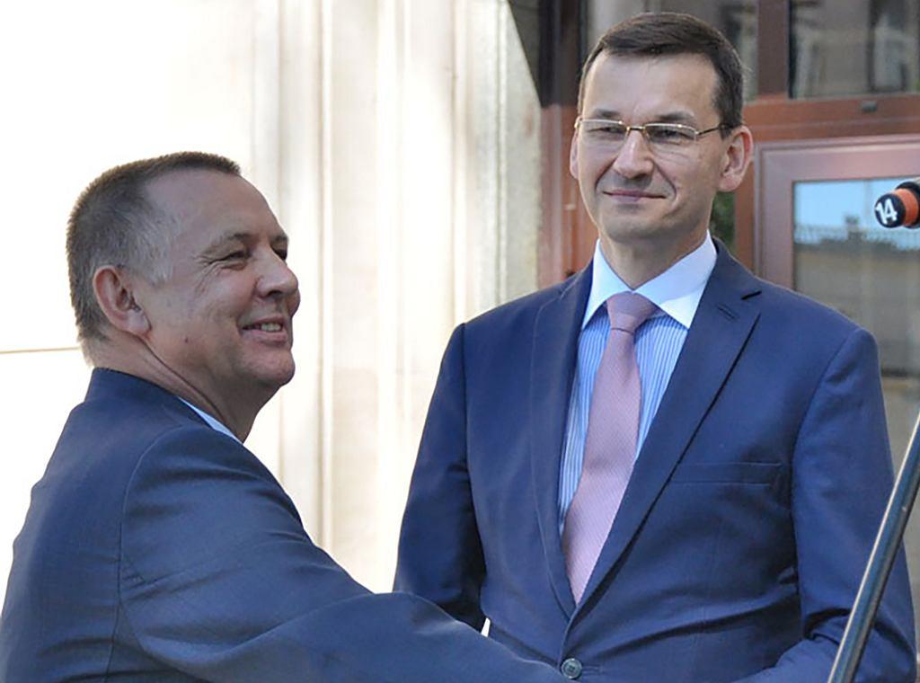 Marian Banaś i premier Mateusz Morawiecki