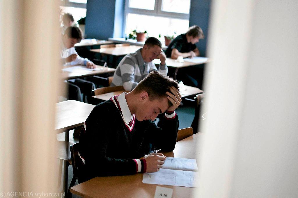 Próbny egzamin gimnazjalny w bydgoskim Gimnazjum nr 26