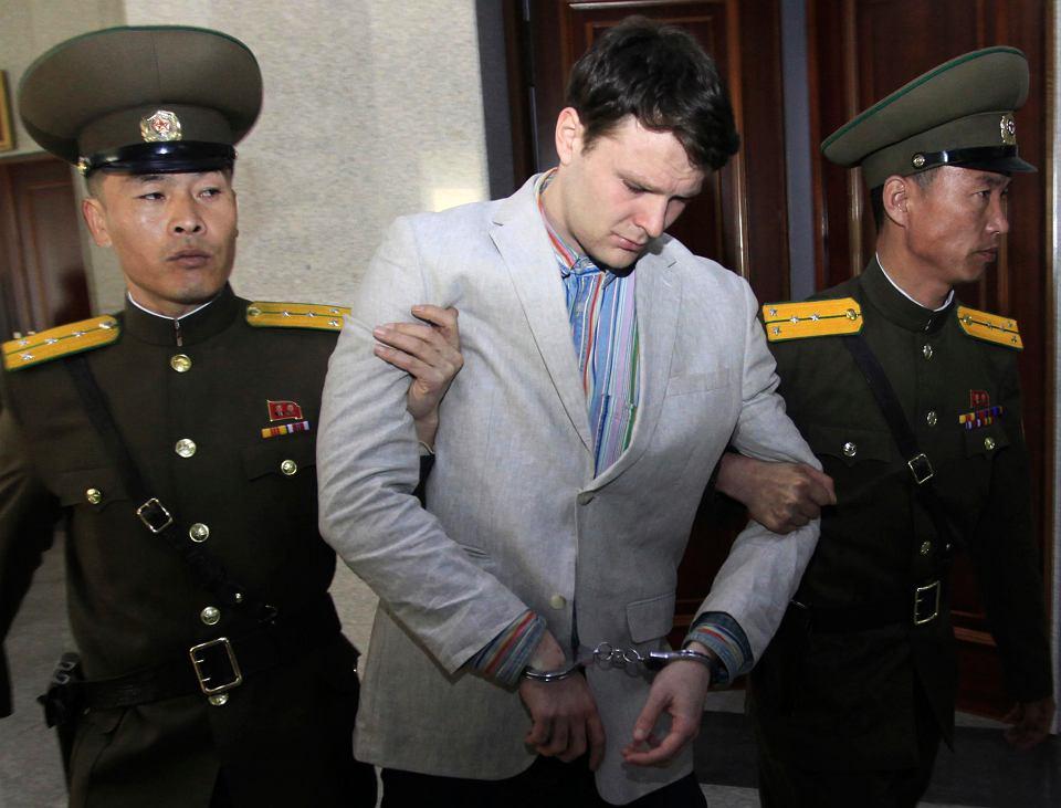 Otto Warmbier, amerykański student z Wirginii, zatrzymany w 2016 r pod koniec wycieczki do Korei Północnej.