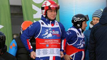 Andrzej Duda na nartach. Zdjęcie archiwalne