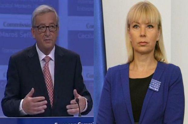 Szef KE Jean-Claude Juncker i polska komisarz Elżbieta Bieńkowska