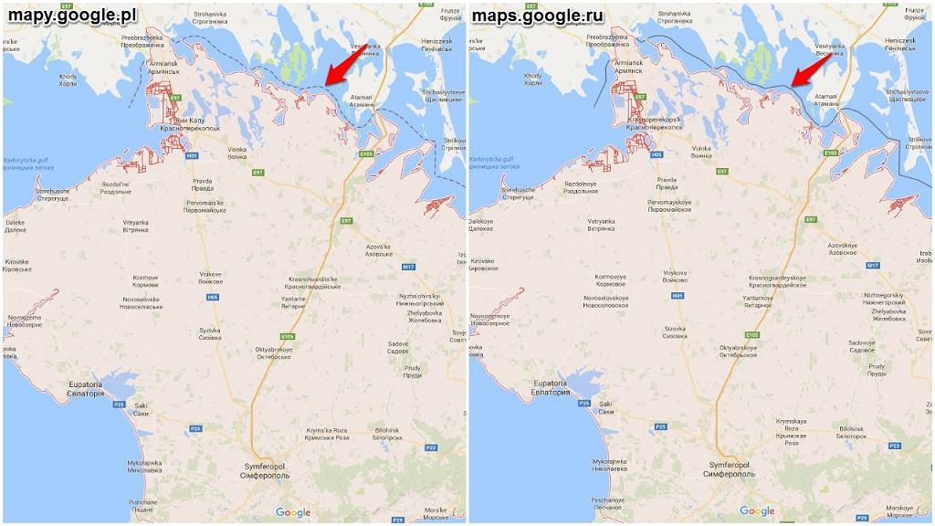 Krym na Google Maps