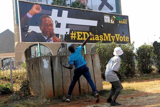 1.08.2018, Harare, zamieszki po wyborach prezydenckich.
