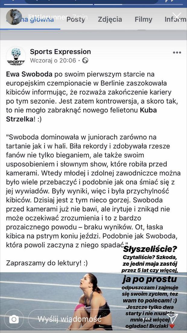 Ewa Swoboda zakończy karierę?