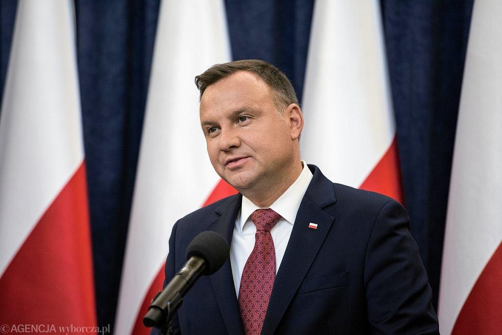 Prezydent Andrzej Duda ogłosił decyzję ws. ordynacji wyborczej do Parlamentu Europejskiego