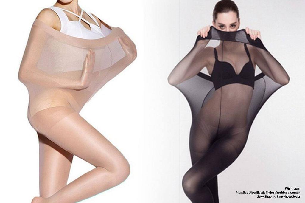 Rajstopy dla pań w rozmiarze plus size reklamują.... szczupłe modelki.