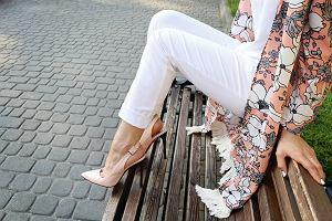 Białe spodnie damskie