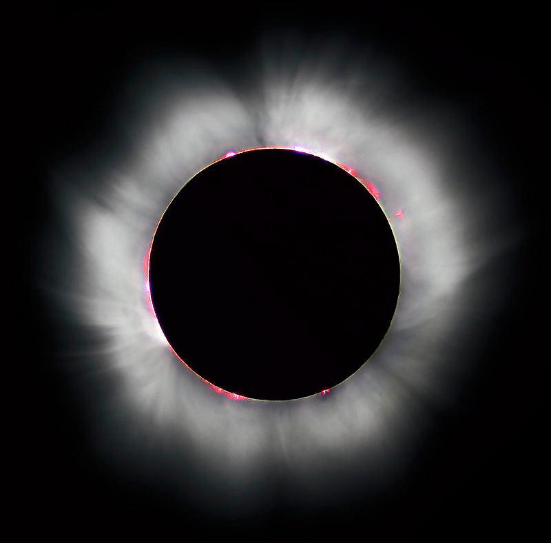 Zaćmienie Słońca w 1860 roku. Wtedy po raz pierwszy sfotografowano ...