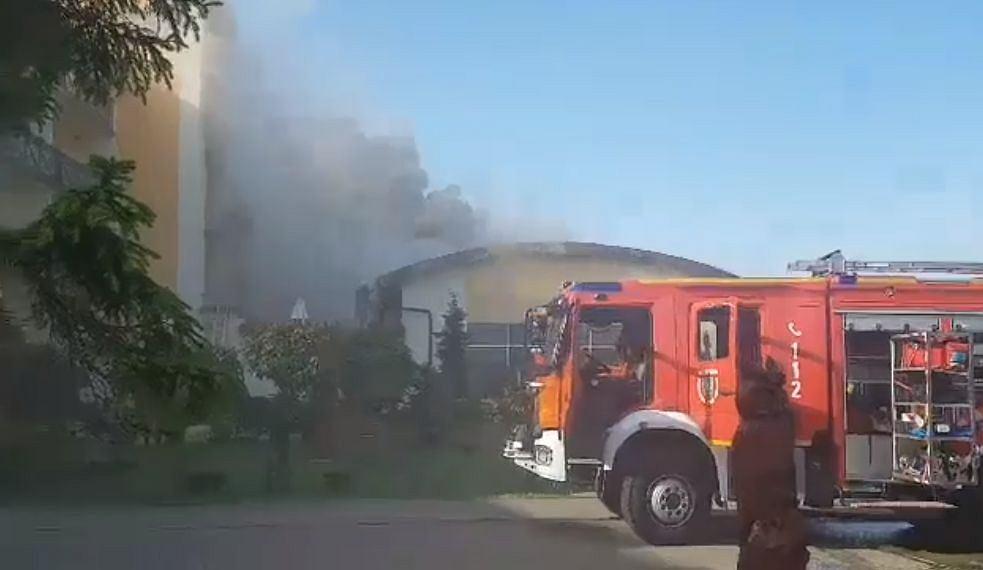 Pożar hotelu w Sarbinowie