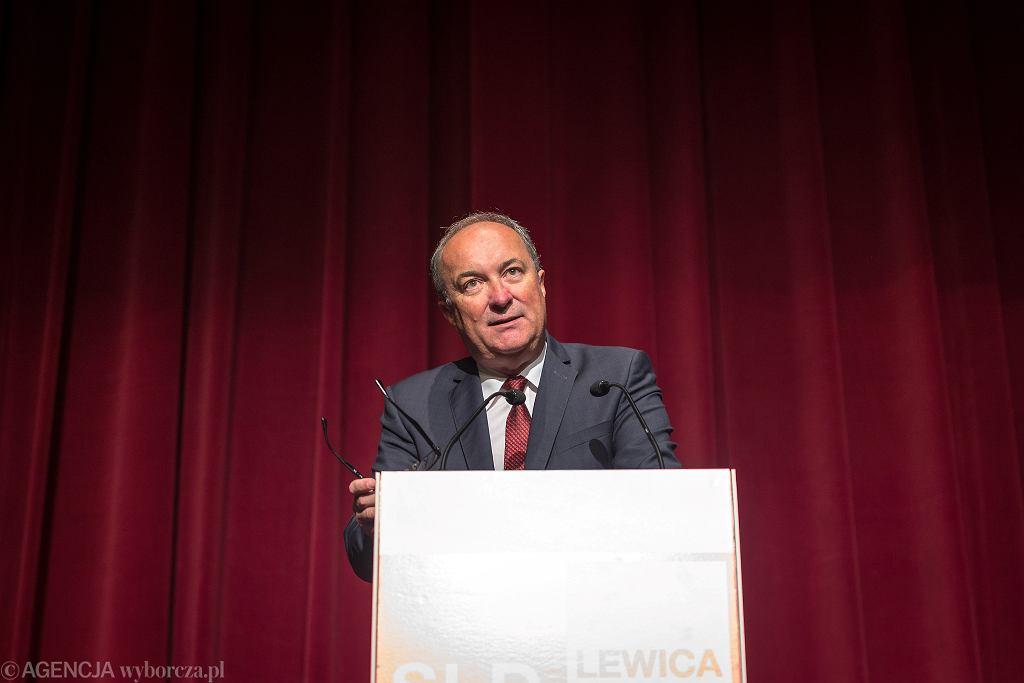 Wybory samorządowe 2018 w Elblągu. Włodzimierz Czarzasty powiedział, że SLD popiera Witolda Wróblewskiego