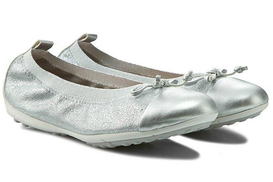 srebrne baleriny dla dziewczynki