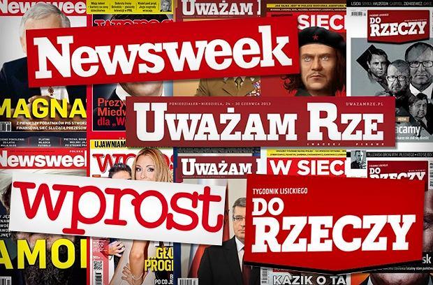 Okładki tygodników (zdjęcie poglądowe)